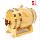 5L Barrel Wooden Barrel Wine Keg For Storage Wine Whiskey Rum w/ Tap+Pedestal US