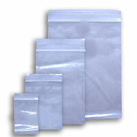 4mil Resealable Poly Ziplock Bags Various Sizes & Quantities FDA & USDA Appd NEW