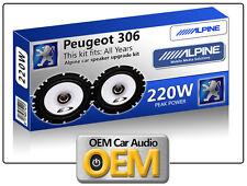 Peugeot 306 Front Door speakers kit Alpine car speakers 220W Max