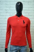 RALPH LAUREN Polo Uomo Taglia XS Maglia Maglietta Manica Lunga Shirt Man Casual