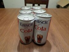 Soda Pop Can Lot 6 Rare Old Kirsch Party Cola Steel prop staging