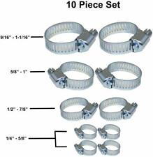 10 Pack Stainless Steel Hose Clamps (Assorted Sizes)