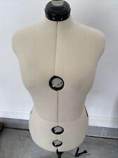 Vintage Model 150 12 Dial Seamstress Adjustable Dress Form Mannequin Off-White