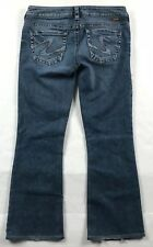SILVER JEANS TUESDAY MID BOOT FLUID DESIGNER JEANS WOMENS SIZE 29 x 28