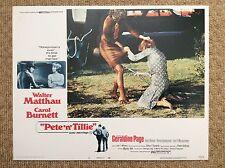 PETE 'N' TILLE Original Lobby Card 3 WALTER MATTHAU CAROL BURNETT GERALDINE PAGE