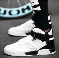 Mens High Top Sneakers Flats Athletic Sports Korean Shoes Ankle Boots 3Colors Sz