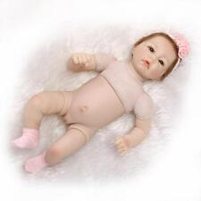 "52cm/21"" Reborn Baby Lifelike Half vinyl body Girl Doll /without clothes"