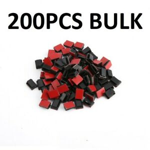 200Pcs Self Adhesive Cable Clips Code Management Wire Holder Organizer Clamps