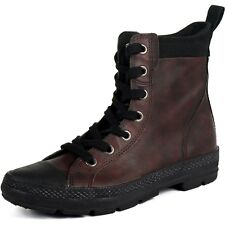 Converse CT Sargent Hi Leather Boot-Brown/ Jester Red- Men's 10.5