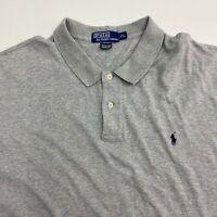 Polo Ralph Lauren Polo Shirt Mens 2XL XXL Gray Short Sleeve Hi Low Hem Casual
