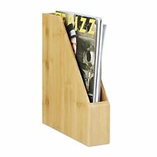 Relaxdays Stehsammler Bambus A4 natürlich schöne Maserung modern Papierau...
