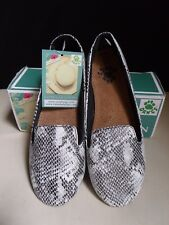 Dawgs Kaymann Snake Print Womens Shoes Sz 7 Ballet Flat Smoking Slipper Slip On