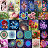 DIY Mosaic Cross Stitch Kit Flower Painting Embroidery 5D Full Drill Diamond