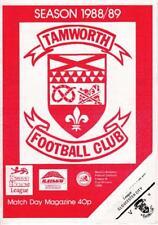 Two Tamworth FC programmes
