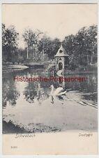 (105908) AK Schwabach, Stadtpark, Teich, Brücke, gel. Feldpost 1916