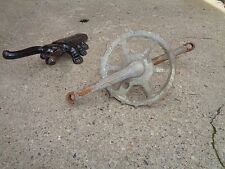"""PRE WAR TRICYCLE """"SKIP-TOOTH CRANKSET"""" RUSTY/DIRTY/GOOD"""