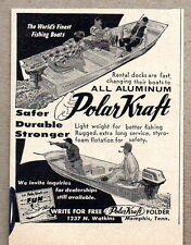 1959 Print Ad Polar Kraft All Aluminum Boats Memphis,TN