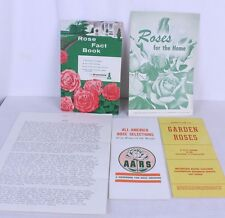 Roses For The Home Garden Roses All America Rose Selections Fact Book Lot of 5
