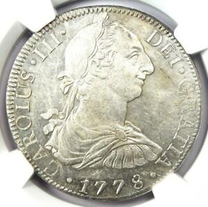 1778-MO FF Mexico Charles III 8 Reales Coin 8R. NGC Uncirculated Detail (UNC MS)