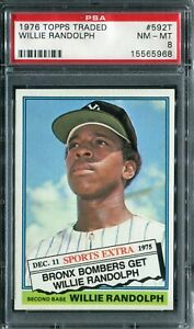 "1976 Topps #592T Willie Randolph ""Traded"" PSA 8 NM-MT"