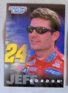 1998 Starting Lineup Jeff Gordon NASCAR Racing Card