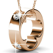 RING PENDANT NECKLACE FT CRYSTALS FROM SWAROVSKI KCN818RG