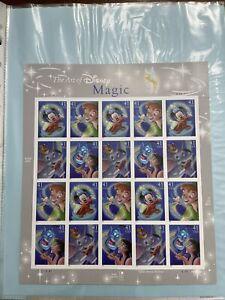 Scott #4192-9195 The Art of Disney Magic Stamp Sheet MNH