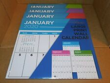 "2020 Large Print 16 Month Wall Calendar 12"" x 11"" NEW Sealed"