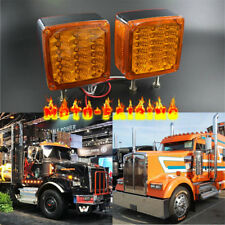 2X Double Stud Mount Truck Pedestal Cab Fender Dual Face Turn Signal Lamp 39-LED