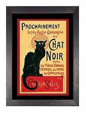 Le Chat Noir - Vintage French Black Cat Retro Print Bohemian Montmartre Poster