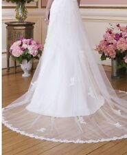 Ivory Cathedral Wedding Train/Veil (Sweetheart Dress 6020) New