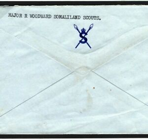SOMALILAND SCOUTS Cover *CROWN/SPEARS* Military Crest KGVI Air Mail 1953 MC214