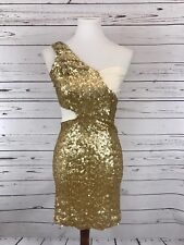 ASOS Gold Sequin Cocktail Party Dress Womens 4 Small NWT