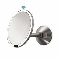 simplehuman Sensor Mirror Wall Mounted 20cm Stainless Steel Hardwired