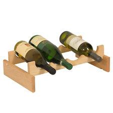 Wooden Mallet 4 Bottle DakotaWine Rack - WR41UN Wine Rack NEW