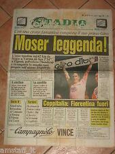 CORRIERE DELLO SPORT STADIO=11/06/1984=FRANCESCO MOSER LEGGENDA=GIRO D'ITALIA