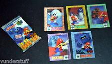 Nintendo 64 Super Mario Kelloggs 1996 Lenticular 3-D Trading Cards 1 Sealed Pack