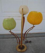 lArGe Danish Modern Spaghetti Balled Walnut Table Lamp