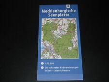 Fahrradkarte Tourenkarte Radwanderungen Deutschland Nord: Mecklenburgische Seen