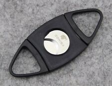 Portale Gadgets Black Plastic Handle Stainless Steel Sharp cigar cutter