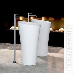 Vasque lavabo totem  PB2198 - Ø 50 x 90cm, avec ou sans robinet