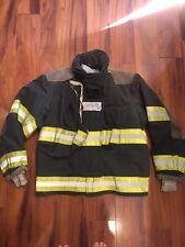 Firefighter Globe Turnout Bunker Coat 42x29  BLACK Halloween Costume
