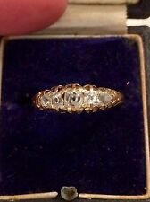 Antique Diamond And Gold Old Cut 5 Stone Ring