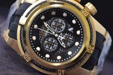 INVICTA MENS RESERVE BOLT ZEUS SWISS CHRONOGRAPH GOLD BLACK BAND WATCH 12666