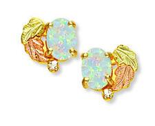 Black Hills Gold 10K Opal Diamond Earrings By Landstrom's®