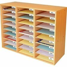 1 Oak Classroom Mail Center with 27 Slots – Keep Your Classroom