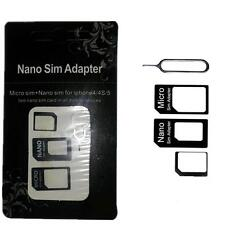 SIM Card to Micro Standard Adapter Adaptor Converter Set For Iphone 4S 5 5S HOA