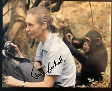 JANE GOODALL SIGNED AUTOGRAPHED 8X10 PHOTO - VERY RARE LEGENDARY APE SCIENTIST C