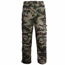 MENS CARGO COMBAT THERMAL FLEECE LINED PANTS TROUSER JOGGING BOTTOMS S-3XL