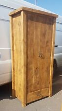 NEW SOLID WOOD RUSTIC CHUNKY PLANK WOODEN WARDROBE WITH CHUNKY LEGS